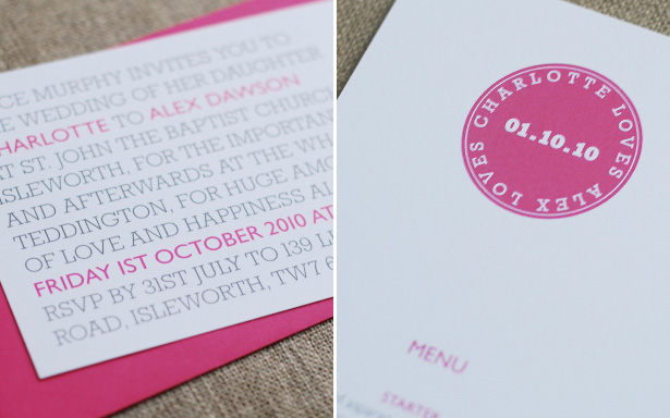 Letterpress Wedding Invitations Stationery Classic Modern